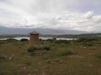 silos a las alturas del Lago Cotapachi